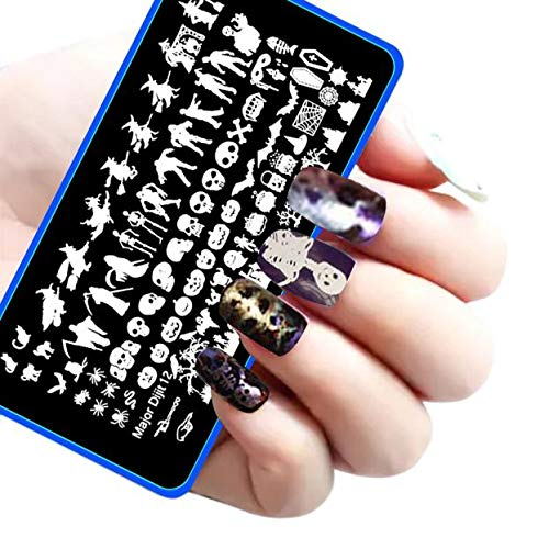 Euone  Halloween Clearance, DIY Nail Art Image Stamp Stamping Plates Manicure Template -