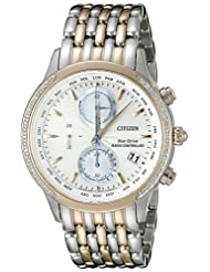 Citizen Womens FC5006-55A World Chronograph A-T Analog Display Japanese Quartz Two Tone Watch