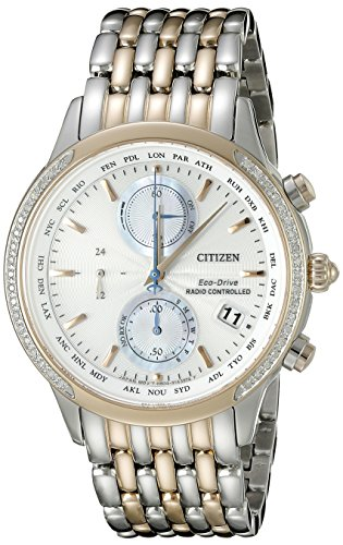 Citizen Eco-Drive Women's FC5006-55A World Chronograph A-T Watch (55a Eco Citizen Drive)