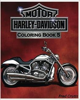 Amazon.com: Motor : Harley-Davidson Coloring Book 5: design coloring ...