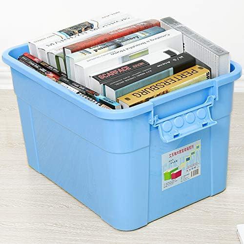 Storage Box Caja de Almacenamiento de plástico Grande Ropa Reforzada Caja de Almacenamiento de Juguete edredón Coche guantera Solo 45L: Amazon.es: Hogar