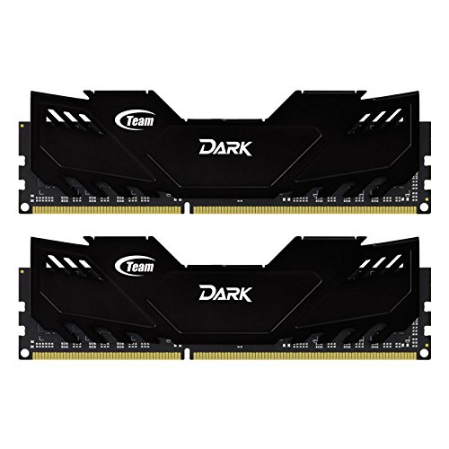 TEAM GROUP Memoria Dimm Dark Series 16 GB (2 x 8GB) DDR3 1600 MHz CL9 Dissipatore nERO