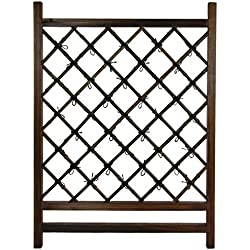 Oriental Furniture Japanese Wood & Bamboo Fence Section