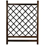 Oriental Furniture Japanese Wood & Bamboo Fence Section For Sale