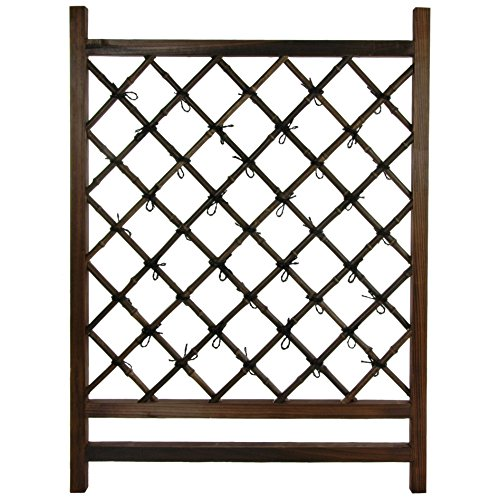 Oriental Furniture Japanese Wood & Bamboo Fence Section -