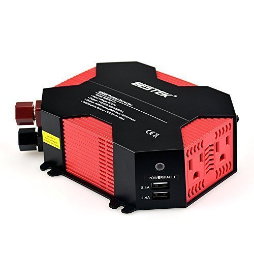 Amazon Lightning Deal 60% claimed: BESTEK 400W Power Inverter DC 12V to AC 110V Car Adapter with 5A 4 USB Charging Ports