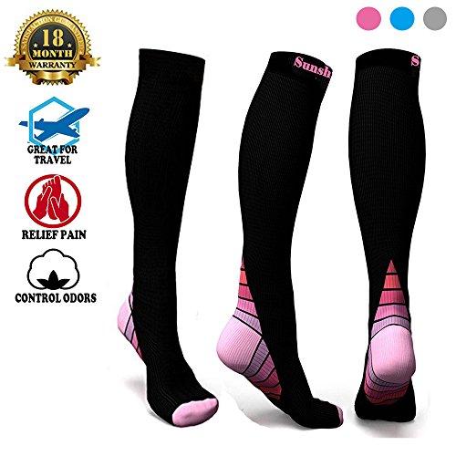 Compression Socks 20 30Mmhg For Men   Women Best Stockings For Running Medical Nursing Athletic Sports Socks For Shin Splints Flight Travel   Maternity Pregnancy Boost Stamina   Recovery
