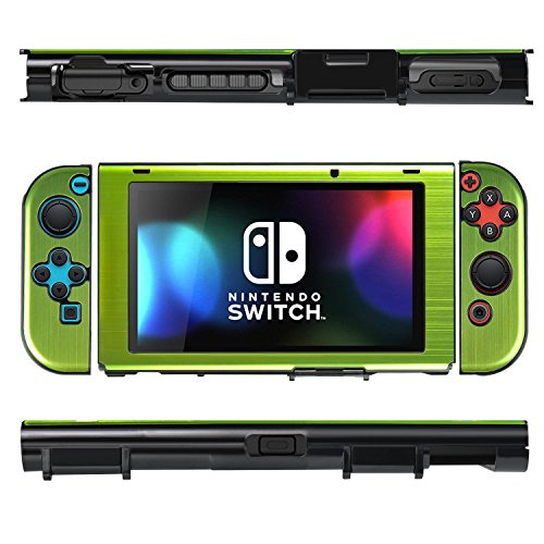 itch Case, Shockproof Rugged Armor Protective Cover for Nintendo Switch 2017, Green (Green Fuselage)