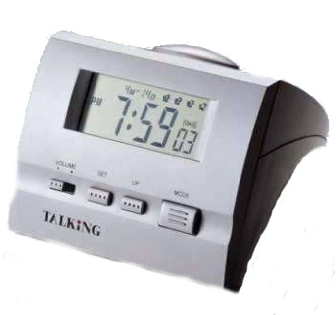 Reloj De Pulsera Muñeca Reloj digital parlante 4 compartimento Alarma despertador 9910: Amazon.es: Relojes