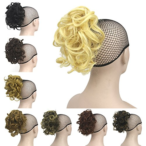 Deniya Short Curly Wrap on Ponytail Clip On Hair Extensions Hair Pieces for Women Clip in