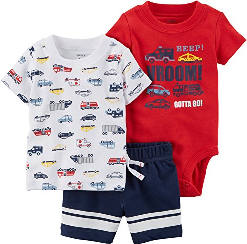 Carter's Baby Boys' 3 Pc. Cars Little Shorts Set 18 Months by Carter's