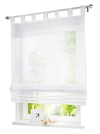 Amazon De 1 Stueck Raffrollo Schlaufen Gardinen Fenster Vorhang
