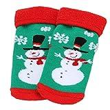 Elaco Baby Christmas Socks Anti-slip Children's Socks Cotton Blend Soft Floor socks