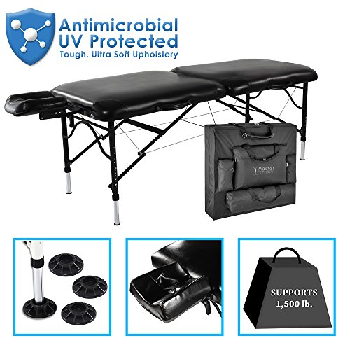 Master-Massage-30-StratoMaster-Light-Weight-Black-Only-25-lbs-With-New-NanoSkin-Upholstery-and-Fully-Loaded-with-Accessories