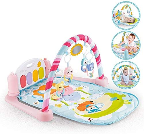 Fisher-Price FWT25 Deluxe Kick and Play Piano Gym Multi-Colour