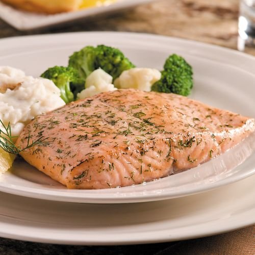 Omaha Steaks Salmon Fillets (Omaha Steaks 4 (6 oz.) Lemon Dill Salmon Fillets)