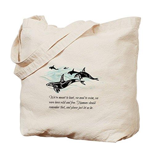 CafePress–orca racconto del panno–Borsa di tela naturale, Borsa per la spesa