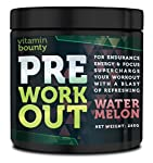 SAY GOODBYE TO YOUR LOW ENERGY WORKOUTS. Vitamin Bounty Pre-Workout is a cutting-edge supplement that will boost your energy in the gym, and increase your focus and strength throughout your workout. Whether you are weight-lifting or building your end...