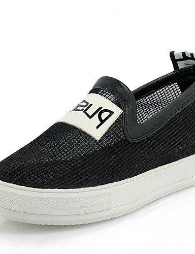 ZQ Zapatos de mujer - Plataforma - Plataforma / Creepers / Punta Redonda - Mocasines - Exterior / Vestido / Casual - Tul -Negro / Rosa / , pink-us3.5 / eu33 / uk1.5 / cn32 , pink-us3.5 / eu33 / uk1.5 / cn32 pink-us3.5 / eu33 / uk1.5 / cn32
