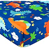 featured product Crib Sheet UOMNY 100% Natural Cotton Crib Fitted Sheets Baby Sheet Set for Standard Crib and Toddler mattresses Nursery Bedding Sheet for Boys and Girls 1 Pack Dinosaur