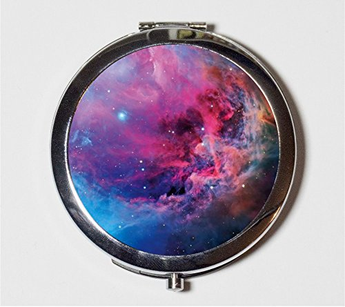 Outerspace Nebula Compact Mirror Universe Celestial Cosmic Space Make Up Pocket Mirror for Cosmetics by Fringe Pop
