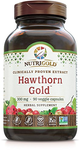 Nutrigold Hawthorn Gold (Clinically-Proven Extract), 300 Mg, 90 Veggie Capsules (Guggul Gold)