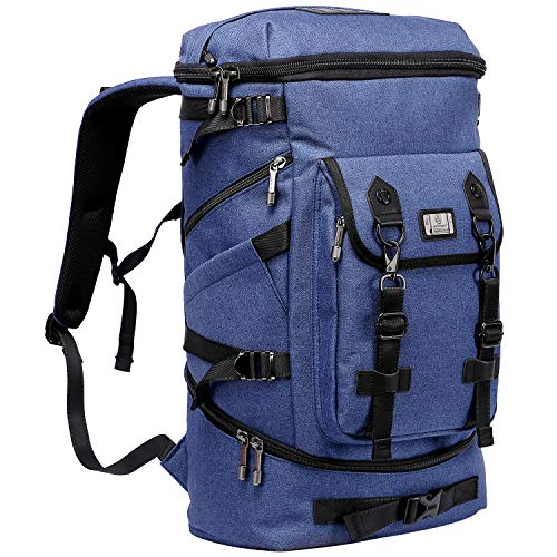 - WITZMAN Travel Outdoor Backpack Hiking Rucksack Carry On Laptop Bag Mens Duffel Knapsack (B568 Blue)