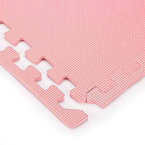 We Sell Mats Pink 16 Square Ft (4 Tiles + Borders) Foam Interlocking Floor Square Tiles by We Sell Mats (Image #4)