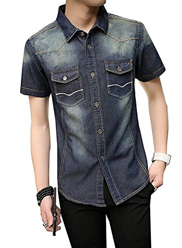 helenelicia-casual-mens-hip-hop-short-sleeve-button-down-washed-denim-shirt