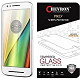 Chevron HD Clear Tempered Glass Screen Protector For Motorola Moto E3 Power, Motorola Moto E (3rd Generation), Fit 99.9% Touch Accurate, 0.3mm