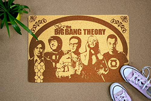 Big Bang Theory 24x16 inch Doormat Outdoor Indoor Entry Rubber Front Porch Hello Mat Home Decor Wedding Anniversary Housewarming Xmas New Year Gift for Him Her Men Women Neighbors Best Friend