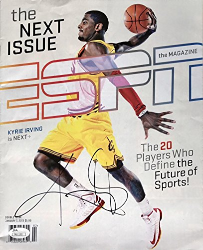 Kyrie Irving Signed (January 7th 2013) No Label ESPN Magazine - JSA Certified - Autographed NBA Magazines