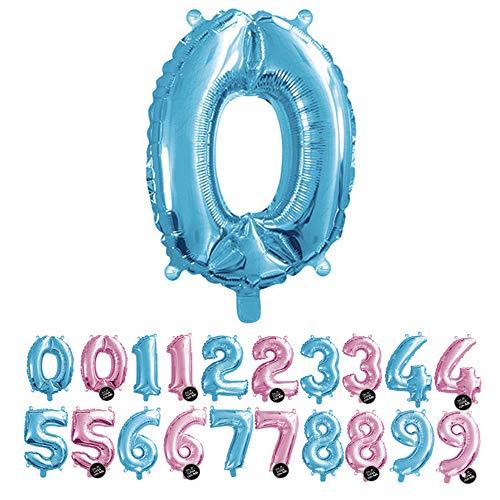 🥇 Haioo Globo Número de Cumpleaños en Metalizado Ideal para Fiesta de cumpleaños y Aniversarios Hinchable y Deshinchable