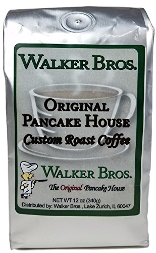 Chicago's Own Walker Brothers Original Pancake House Custom Roast Coffee (Net Wt 12 oz.) Ground (1 - 12 Oz Bag)
