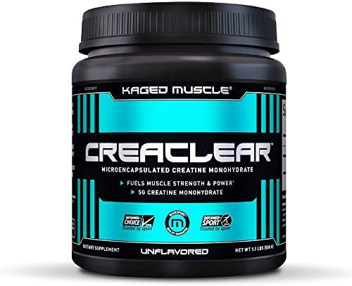 Creatine Monohydrate Powder to Build Muscle Strength, Kaged Muscle CreaClear Creatine Powder, Proprietary Technology for Superior Solubility Unflavored Creatine Monohydrate Supplement