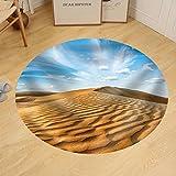 Gzhihine Custom round floor mat Panorama of Dunes of Thar Desert. Sam Sand Dunes Rajasthan India