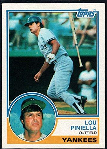 Baseball MLB 1983 Topps #307 Lou Piniella Yankees