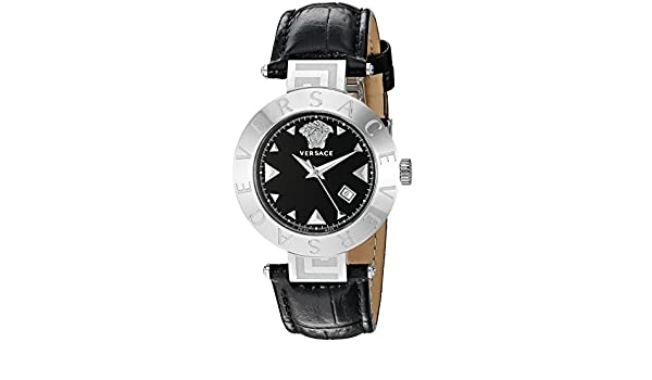 Amazon.com: Versace Womens XLQ99D009 S008 Reve Analog Display Quartz Black Watch: Watches