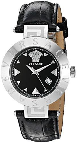 Versace Women's XLQ99D009 S008 Reve Analog Display Quartz Black Watch