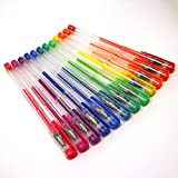 Colorful Fluorescent / Bright Neon Gel Pens For Fuji Instax Mini 9, 26, 8, 7 Instant Camera Projects - Pack of 12