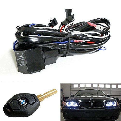 iJDMTOY Angel Eyes Halo Rings LED or CCFL Relay Harness with Fade-On Fade-Off Features For BMW (Using OEM Key) - Ccfl Angel Eyes Halo Ring
