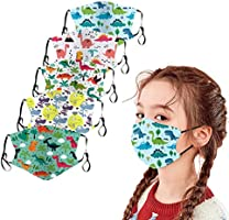 Kids Face Bandanas 5Pcs Childrens Cotton ???????? Gauze Mouth Scarf Dustproof Covers Breathable Cute Print Protective...