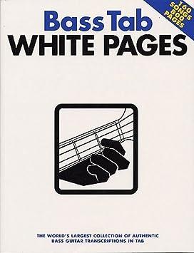 Bass Tab White Pages. Partituras para Guitarra Bajo(Símbolos ...