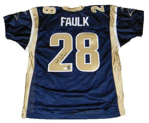 on sale bcbdd 87cb8 Marshall Faulk Signed Jersey - #28 Reebok - JSA Certified ...