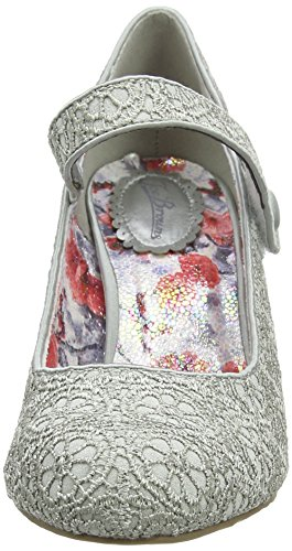 Joe Browns Women's Alicia Lace Shoes Mary Janes Grey (Grey) xuMIekcTW