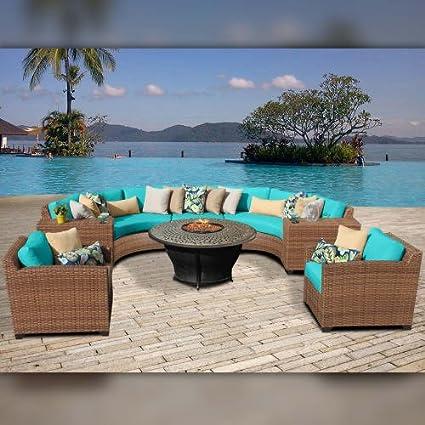 Delacora LAGUNA 08h ARUBA Laguna Outdoor 8 Piece Conversation Set    Includes Chair,