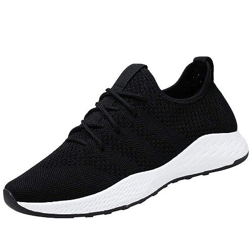 Beladla Hombre Zapatos Deportivos De Los Planos AtléTicas Ocasionales De La Malla Respirable CojíN De Aire Zapatillas De Deporte Running para Estudiante ...