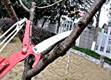 TECHTONGDA 26 Foot Length Tree Pole Pruner Tree Saw Garden Tools Loppers Hand Pole Saws