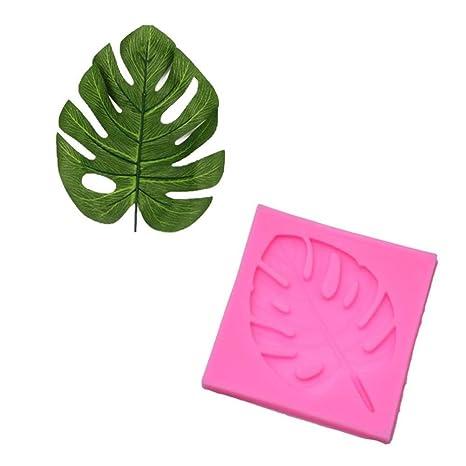 BALANCEYG 2 unids 3D Hoja de Molde de Silicona de Chocolate DIY Moldes Fondant Herramientas de