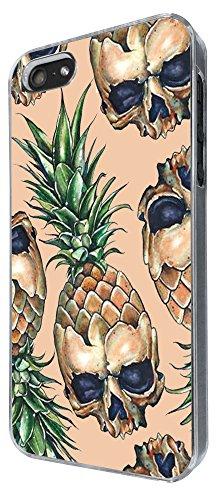 769 - Pineapple Skulls Design iphone 5 5S Coque Fashion Trend Case Coque Protection Cover plastique et métal